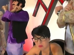 Henessy S and Omar Galanti are having a wild threesome fuck session
