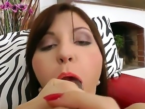 Roxana Trip gets one huge dick pounding her ass during her naughty...