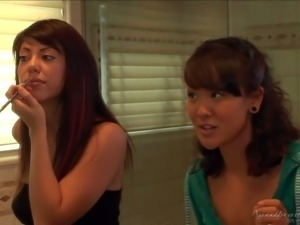 Satine Phoenix and her asian friend Jandi Lin decide to