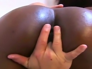 Black skinned girlfriend sucking and riding not bad white dick with real...