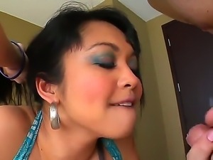 Enjoy excellent blowjob by amazing Asian beauty Mika Tan