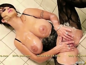 Glorious brunette MILF Holly Halston is ass fucked