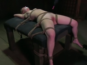 Extreme bondage and sadistic treatment