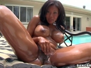 Jessica Dawn is a horny black bitch with big tits.