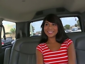 Hot and gorgeous slut whose name is Kara Hartley shows her body in the car