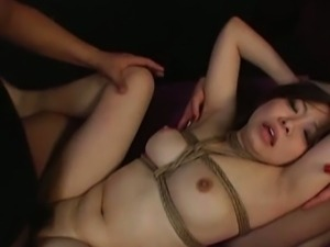 Japanese slave knows how rough bdsm can be