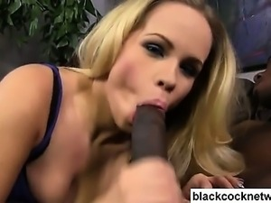 Black cock slut with her new master