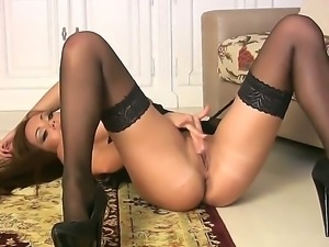 Adorable brunette babe Harley Kent with big round hooters and delicious ass...