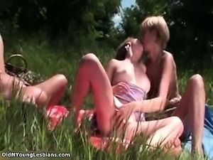 Nasty old and young lesbians go crazy part2