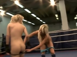 Laura and her sexy friend Michelle duke it out in the squared circle, and,...