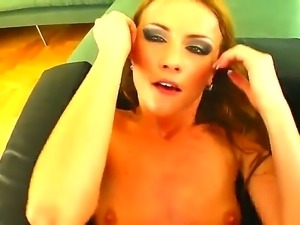 Gilda getting fucked in the ass with a huge cocking