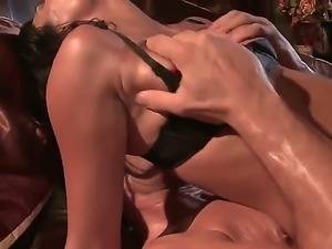 Shazia Sahari stays in black bra only before starting to give rodeo on big...