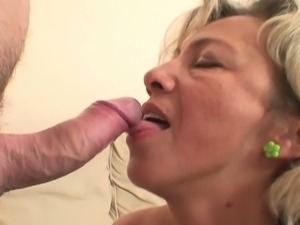 Hot mother-in-law enjoys cock riding