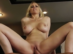 Danny Mountain gets his cock served by this somking hot milf named Julia Ann....