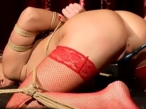 Katy parker dominated in red stockings