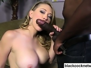 Kagney Linn Carter blows Mandingo