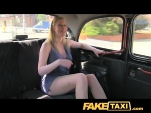 FakeTaxi Blonde with big natural tits makes extra cash free