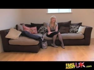 FakeAgentUK Sweet blonde desperate to get back into the business free