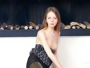 Petite and so sweet-looking girl is going to demonstrate some of the most...