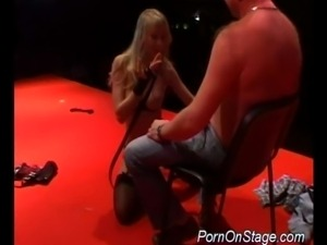 Porn on stage stripper hard dildoing pussy and teasing