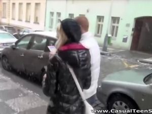Casual Teen Sex - Old trick works on young pussy
