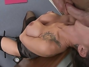 Big boobed, brunette babe Sandee has her gorgeous face pummeled hard and fast...