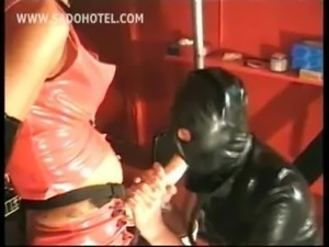 Mistress fucks dirty slave in the ass with a dildo free