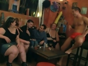 Fat czech chicks share one young cock