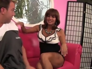 bronzed milf loves to lick asshole