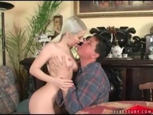 Teen enjoys nasty sex with a fat old fart