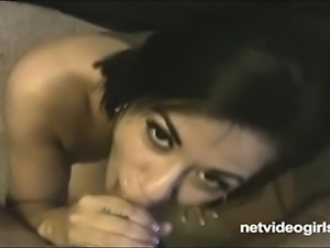 Ridiculously adorable Angel sucks cock like a true professional should She...