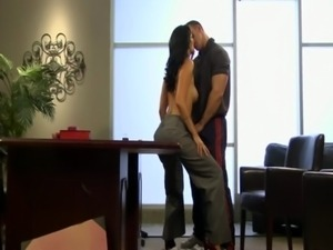Busty cougar Zoey Holloway sex on desk free