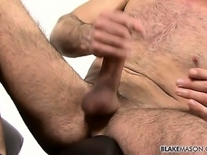 Sexy and hairy Bulgarian hunk Sam jerks the cum from his