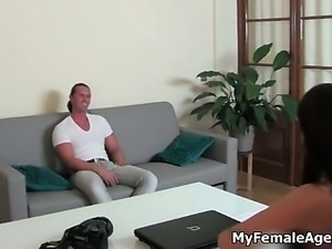 Big white boy shows her skills in a porn part1