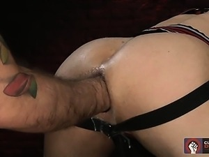 Alessandro readies Mikoah's hot hole for a round of assplay