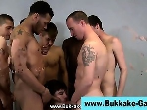 Group dick sucking gay bukkaked