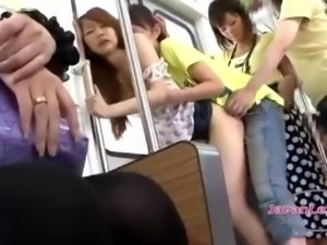 Asian Girl In Mini Pussy Fucked in a bus