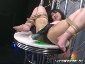 Bound japanese babe gets pussy vibrated hard