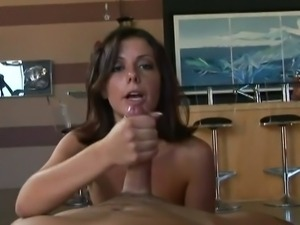 Penny flame strokes cock like a pro