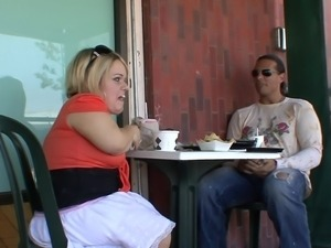 lunch and sex with a blonde midget