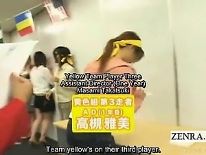 Subtitled crazy Japanese naked office scavenger hunt