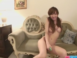 Lovely and playful Japanese babe Hayakawa Serina looking hot in her skimpy...