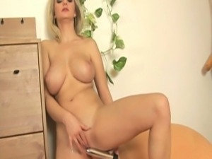 Very hot busty milf toys and gets fucked hard cock