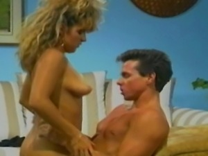 Retro porn star king Peter North putting his massive cock deep inside another...