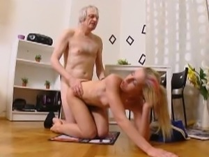 Young skank Nelya ass drilled by an old dude