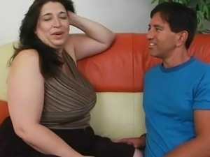 Open hoochie chubby has orgasm onto Her big titties And Overweight Plump...