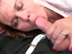 Drunk mommy getting her mouth and pussy drilled