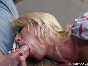 Capri Cavanni is an irresistibly sexy blonde with perfect big tits. Hes in...