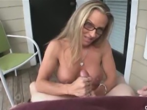 Horny blonde milf chrissy ann gives great handjobs