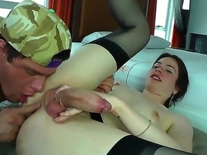 Alex Victor fucking with amazing brunette shemale Nicole Bastiani